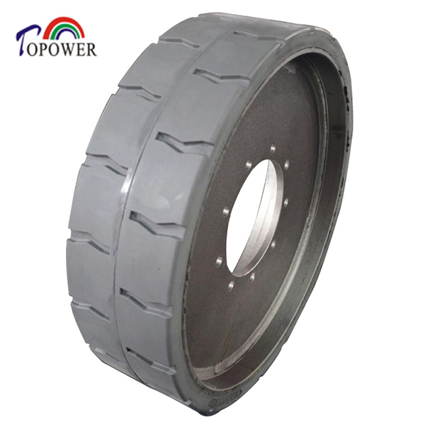 Cured On Solid Rubber Tire TP326 12 3/8 x4 25X7